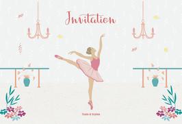 Cartes d'invitation danseuse