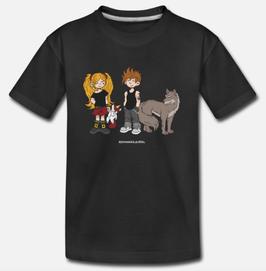 "T-Shirt, Design: ""Junior Rocker"", schwarz"