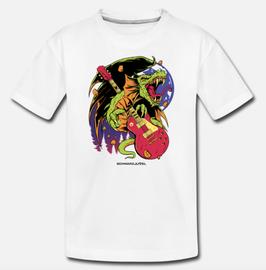 """T-Shirt, Design: """"Drachenpower"""", weiss"""
