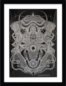 """Kunst-Druck, """"HAMBURG:DRONE"""", mit Rahmen, ab EUR 99,95"""