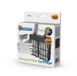 Superfish Hang On filter cartridges (2stuks)