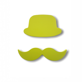 """chapeau-moustache bois adhésif """"anis"""""""