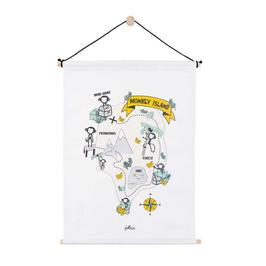 """poster canvas """"île aux singes"""""""