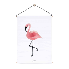 "poster canvas ""flamant rose"""