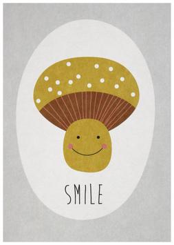 """carte postale """"champignon"""""""