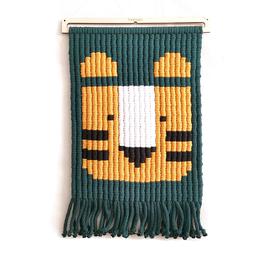macramé pixels - TYSON le tigre jaune