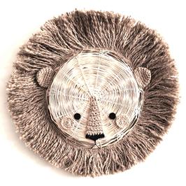 trophée lion en bambou unicolore BIG