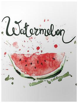 """poster """"pastèque aquarelle"""""""