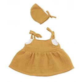 """robe & bonnet """"curry"""" pour poupée 38-42cm"""