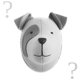 "trophée tissu chien ""personnalisable"""