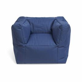 fauteuil pouf bleu jeans