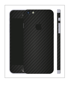 iPhone 6/6s Carbon Folie Schwarz