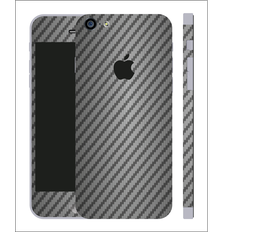 iPhone 6/6s Carbon Folie Anthrazit