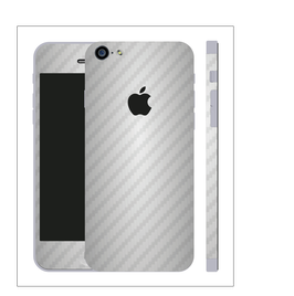iPhone 6/6s plus Carbon Folie Silber
