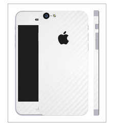 iPhone 6/6s plus Carbon Folie Weiss