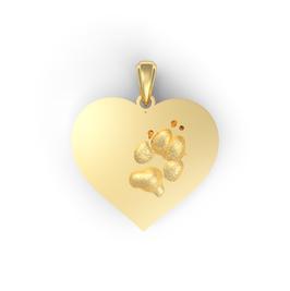 Pfoten Aurimi Herz gelb vergoldet