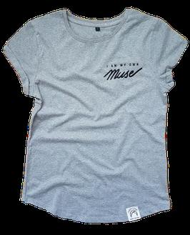 "Shirt ""I am my own Muse"" melange"