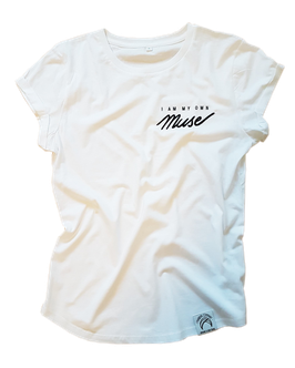 "Shirt ""I am my own Muse"" white"