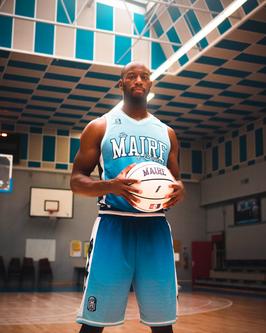 Ensemble de basket Marcus Ginyard Electric Blue NC