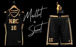 Ensemble de basket NBC Gold & Black