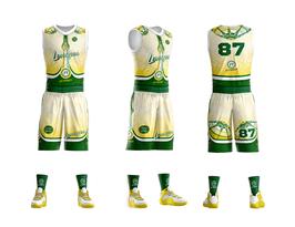 Ensemble de Basket Masculin Espace Sports LIMOGES Blanc (short+maillot)