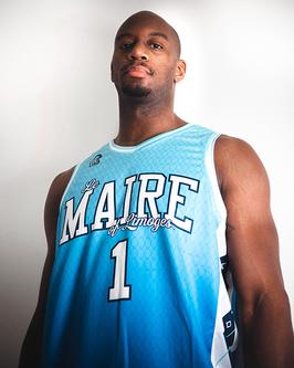Maillot de Basket Marcus GINYARD Eletric Blue NC