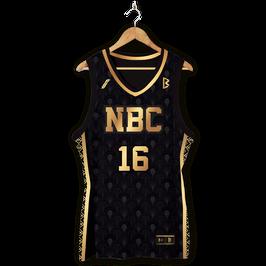 Maillot NBC Gold & Black.