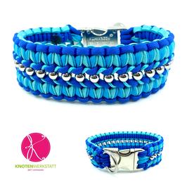 Halsband Perlentaucher blau