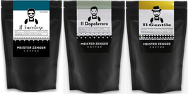 ORGANIC SET of 3 at 125g - Mild and Chocolate   Citric with Acidity   Strong and Dark-Chocolate