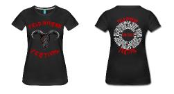 Field Invasion Festival 2016 - T-Shirt Frauen - Schädelmotiv mit Line-Up