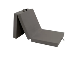 Gyndler 3-teilige Klappmatratze 190x70x9 cm Grau