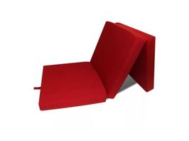 Gyndler 3-teilige Klappmatratze 190x70x9 cm Rot