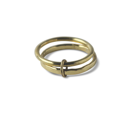 """""""Double Loops Ring Messing"""" by ting goods"""