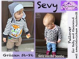Sevy - Pullover für Babys und Kleinkinder mit amerikanischem Ausschnitt