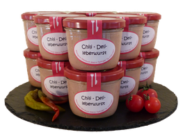Chili-Delikatessleberwurst