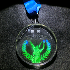 WOWクリスタルメダル「女神」(背面文字入れなし)