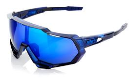 100% Speedtrap - Polished Translucent Blue - Electric Blue Mirror
