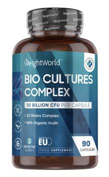 Bio Culture Complex 30 Billion 90 Kapseln   Verdauungsförderndes probiotisches Nahrungsergänzungsmittel