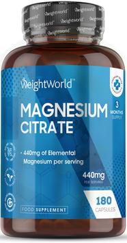 Magnesiumcitrat  180 Kapseln - Weight World