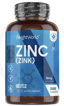 Zink 25mg - 365 Tabletten - WW