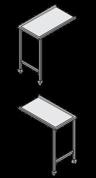 Hobart Europrofil-Tisch ohne Becken, ohne Spritzblech