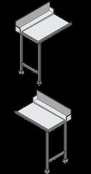 Hobart Europrofil-Tisch ohne Becken, mit Spritzblech