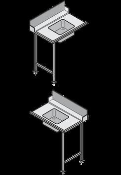 Hobart Europrofil-Tisch mit Becken 500x400x250 mm, mit Spritzblech