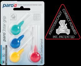 #1090 paro® 3star grip – triangulaires, assortie, 4 grandeurs différentes, 12 blister à 4 pcs