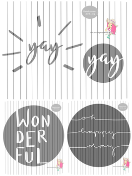 be happy 4er set {handgelettert}