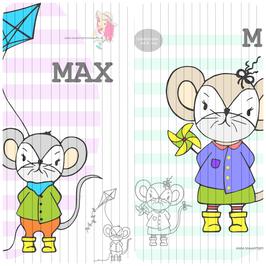 max & mia {plottervorlage} (einzeln oder als 2er set)