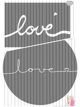 in love 2er set {handgelettert}