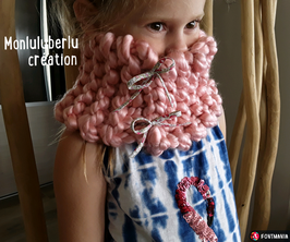 Snood  enfant rose et liberty