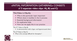Clips Initial information gathering?