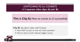 Clips: Switching to LI from an ongoing different therapy